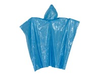 Rain poncho blue-transparent