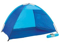 Beach shelter blue