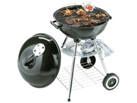 Barbeque grill enamelled