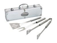 BBQ set w. silver aluminium case