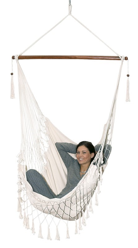 Hanging chair, cotton, nature