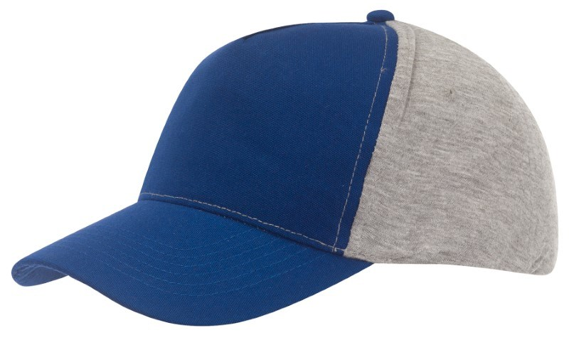Baseball-Cap, 5 Panels with Jersey, blue