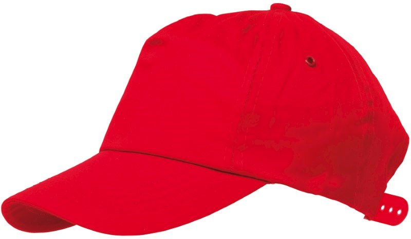 BASEBALL-CAP, COTTON, RED