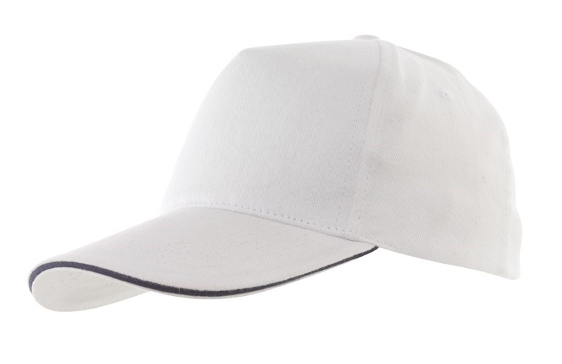 Sandwich-Cap, 5 Panel H´brusehd, white