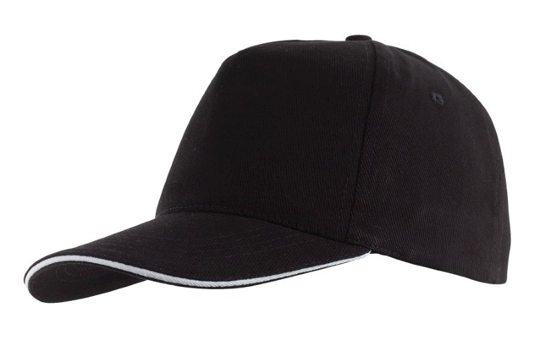 Sandwich-Cap, 5 Panel H´brusehd, black