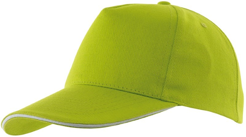 Sandwich-Cap, 5 Panel H´brusehd, L´green