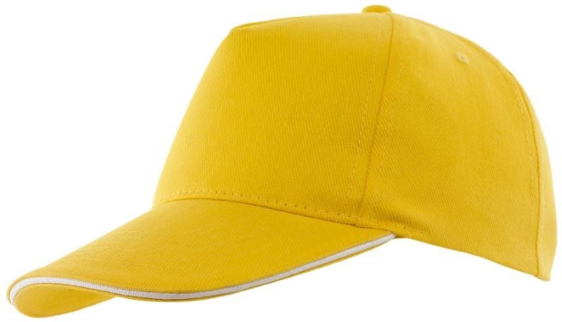 Sandwich-Cap, 5 Panel H´brusehd, yellow
