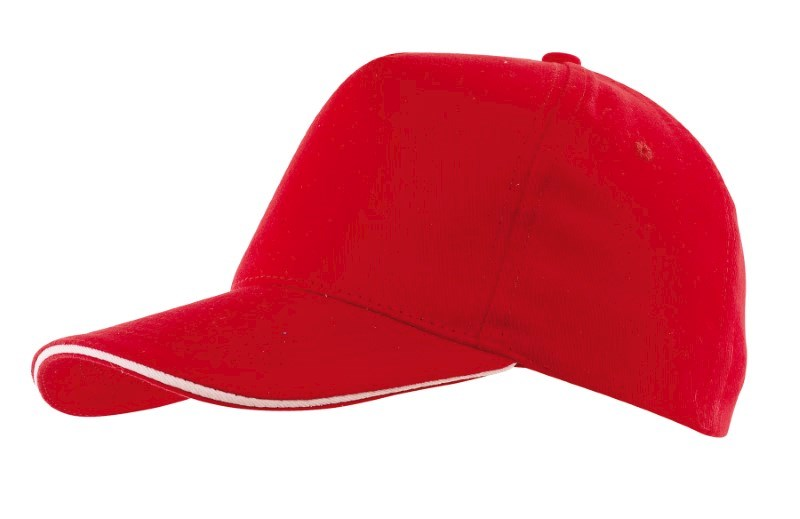 Sandwich-Cap, 5 Panel H´brusehd, red