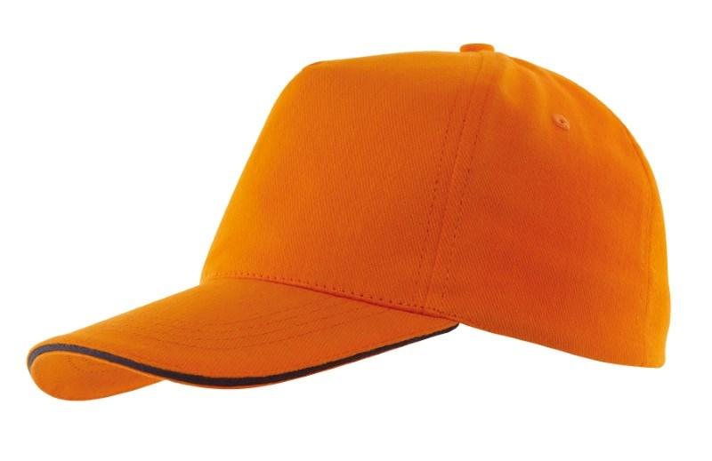 Sandwich-Cap, 5 Panel H´brusehd, orange