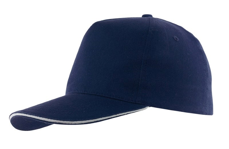 Sandwich-Cap, 5Panel H´brusehd, navy