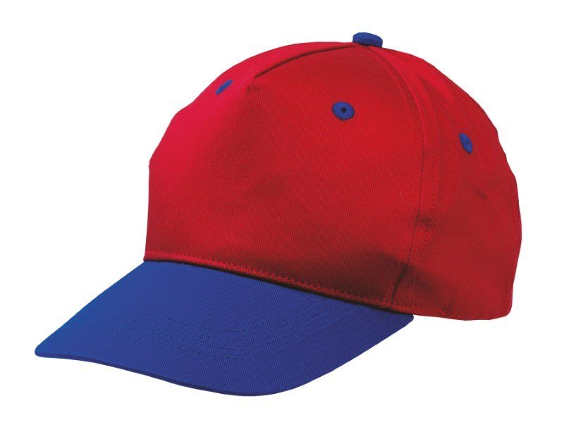 CHILDRENS-CAP,COTTON,RED/BLUE