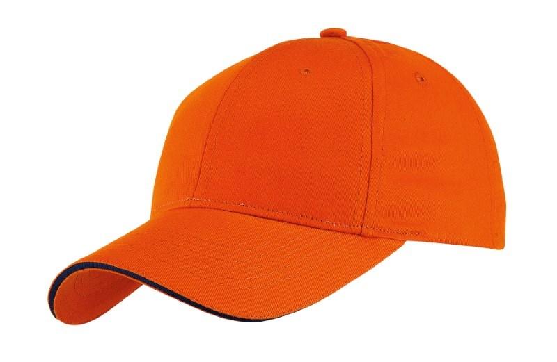 SANDWICH-CAP,HEAVY BRUSH,orange