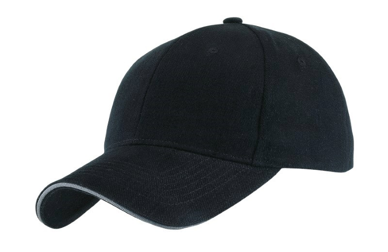 SANDWICH-CAP,HEAVY BRUSH.,black