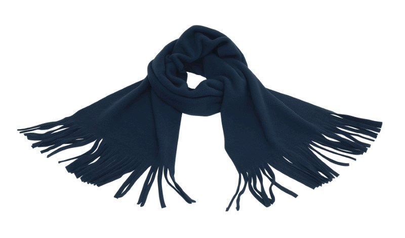 SCARF, POLY.-FLEECE,NAVY