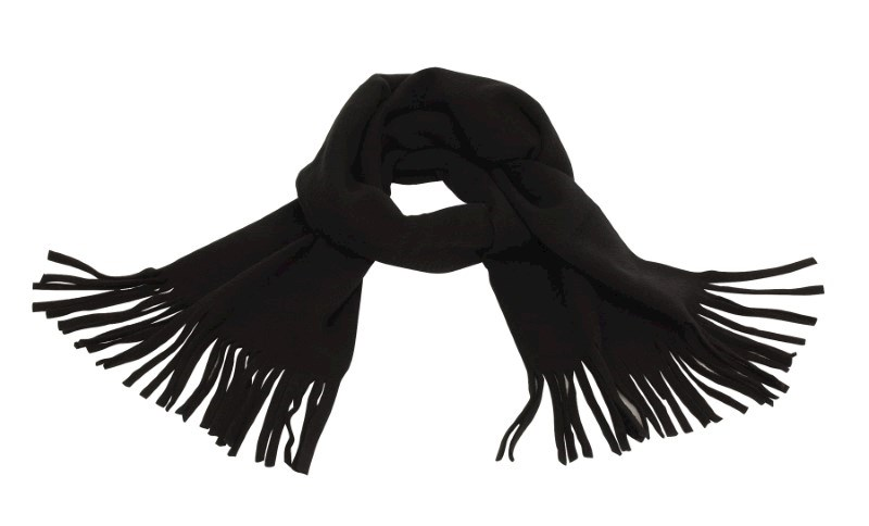 SCARF, POLY.-FLEECE,BLACK