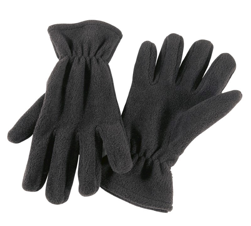 Glove, POLY.-FLEECE, BLACK