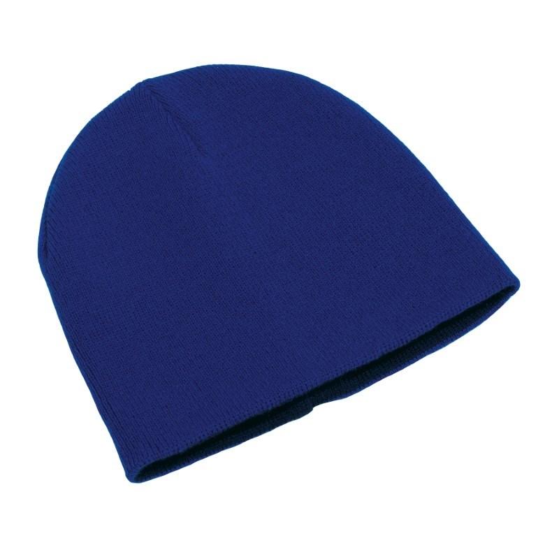knitting hat,100% acrylic,navy/royal blu