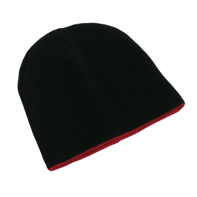 knitting hat,100% acrylic,black/red