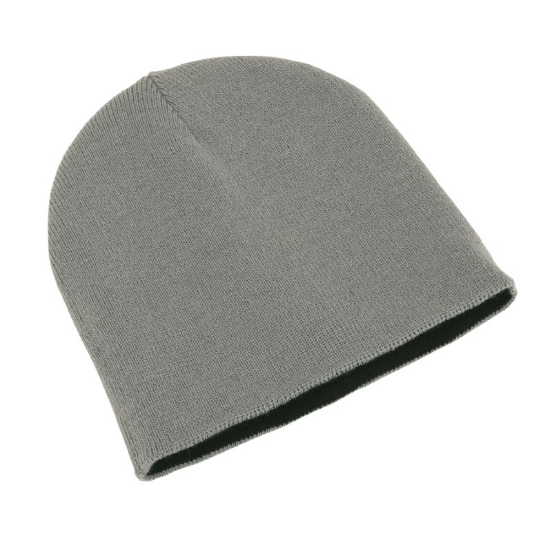 knitting hat,100% acrylic,silver/black