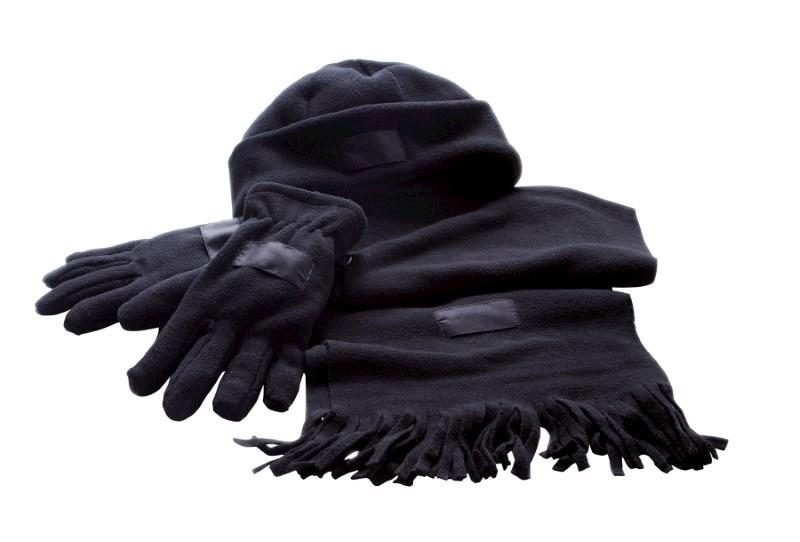 Fleece Set, Polar Fleece, black