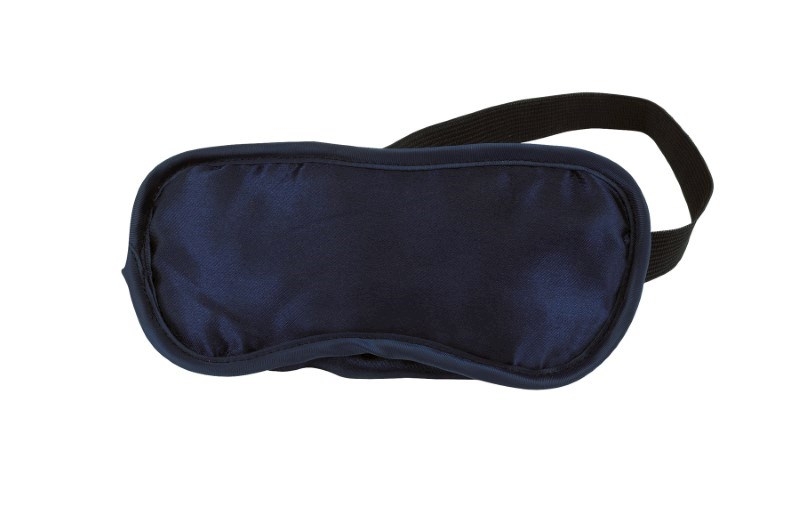 Eye patch, Satin/Polyester, navy