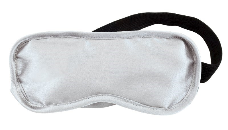 Eye patch, Satin/Polyester, silver