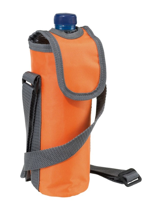 420D cooler bag for 0,5l bottle, orange