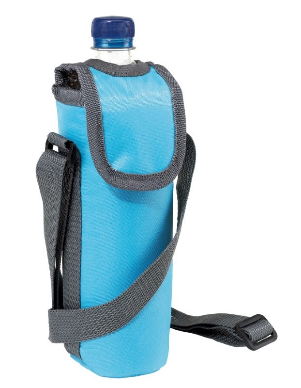 420D cooler bag for 0,5l bottle, l. blue
