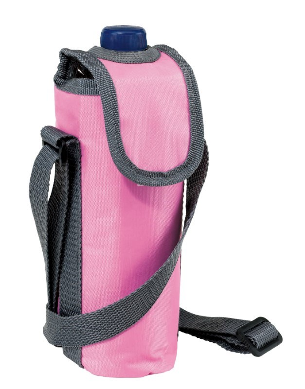 420D cooler bag for 0,5l bottle, pink