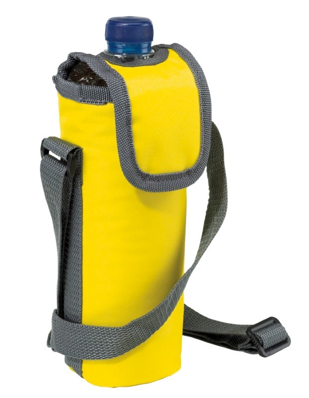 420D cooler bag for 0,5l bottle, yellow