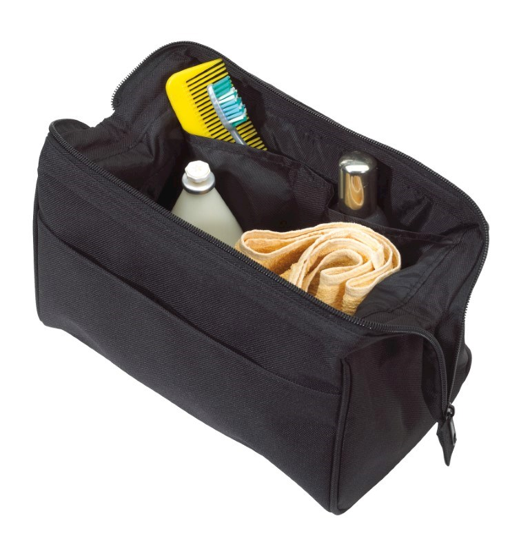 Toilet bag'Daybreak' 600d, black