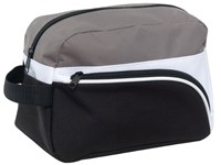 Toilet bag'Narvik' 600d,black/grey/white