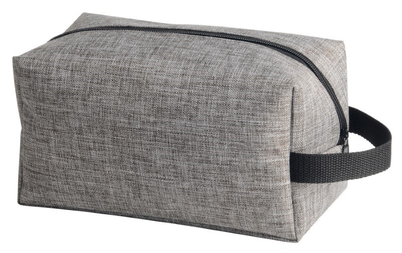 Toilet bag'Donegal',grey/brown mixed