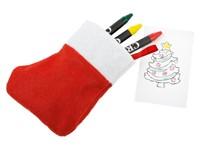 xmas sock- colouring set