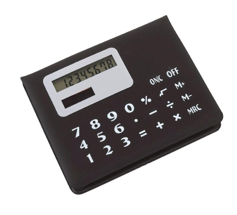 Memobox with calculator, black