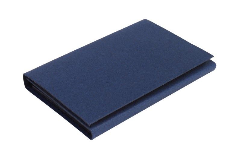Memo pad with calculator,navy blue