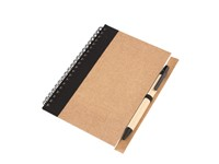 spiral note book, 70 sheets, black