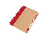 spiral note book, 70 sheets, red