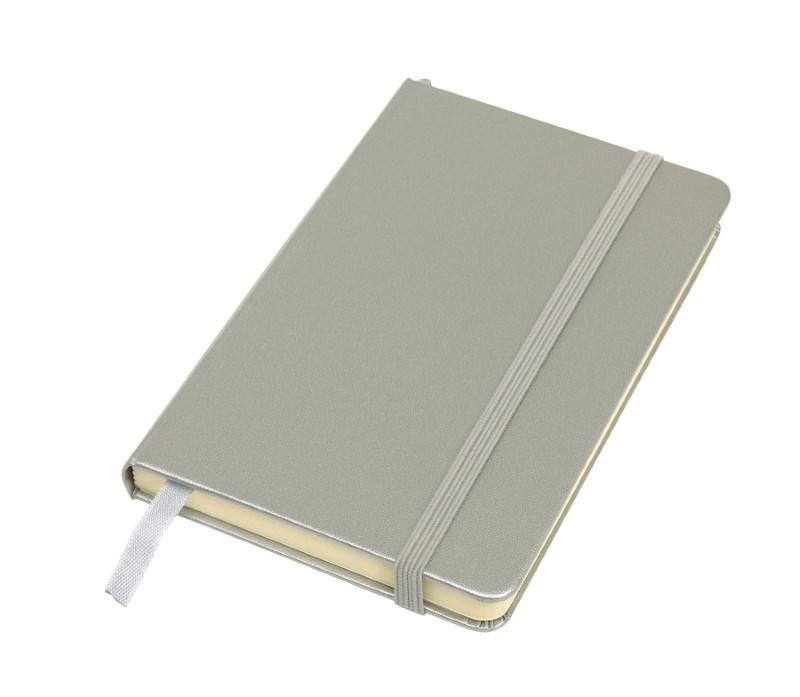 Notebook 'Attendant' , A6, silver