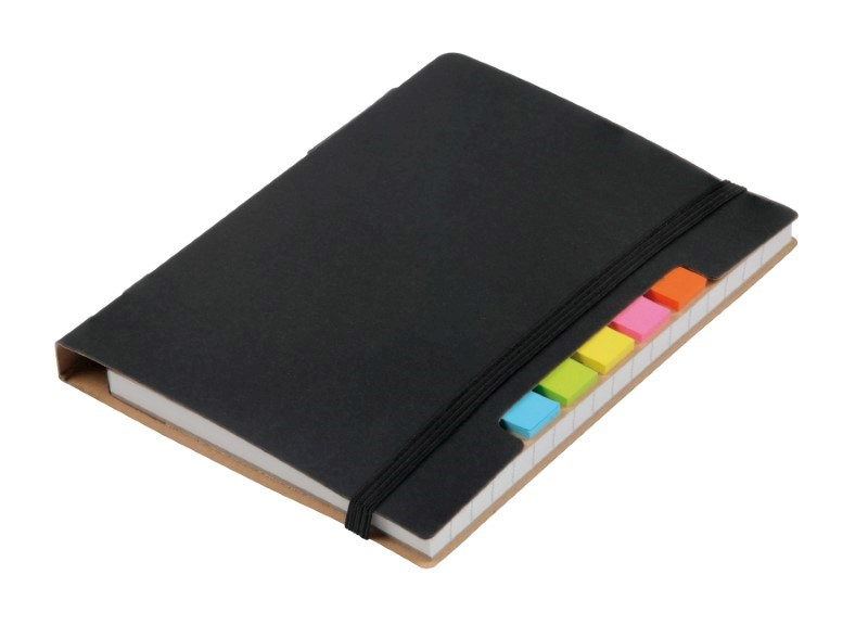 Notebook w. sticky notes PENZ, black