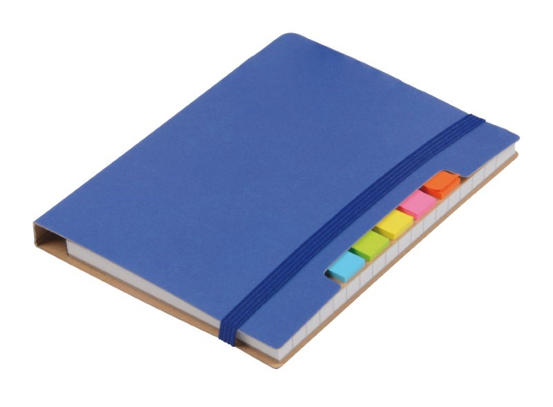 Notebook w. sticky notes PENZ, blue