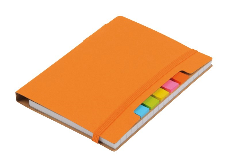 Notebook w. sticky notes PENZ, orange