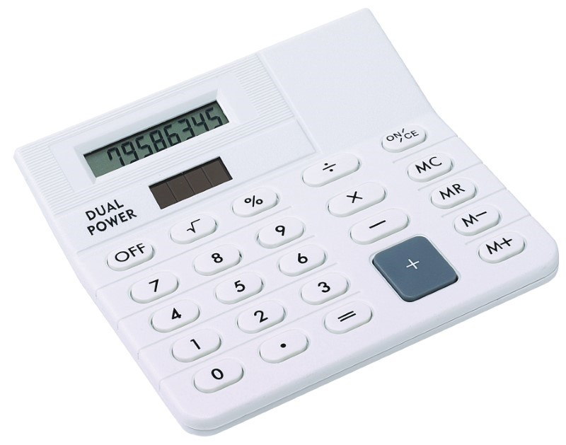 Mini-desk top calculator