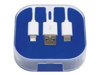 3-in-1 oplaadkabel RECHARGER, blauw
