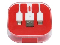 3-in-1 oplaadkabel RECHARGER, rood