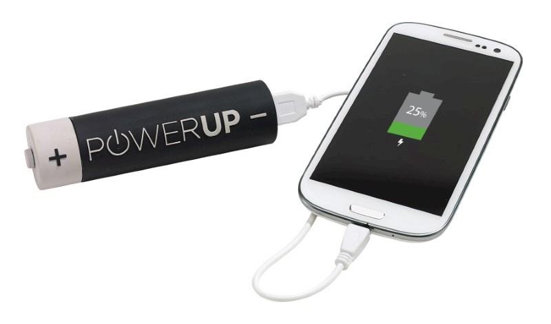 Powerbank POWER UP, grey/black