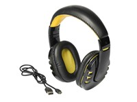 Bluetooth headphones RACER, black/yellow