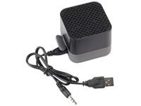 Bluetooth speaker CUBIC, zwart, grijs