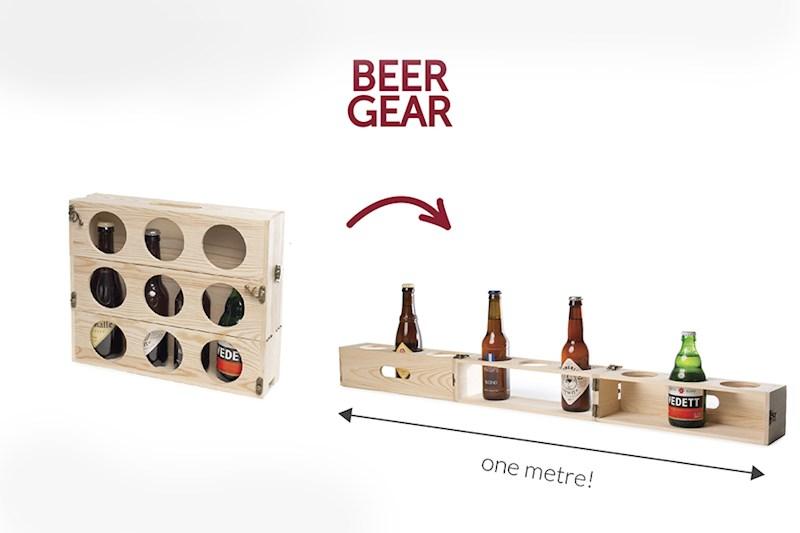 Rackpack Beergear: een biergeschenken kist én een meter bier tray in één