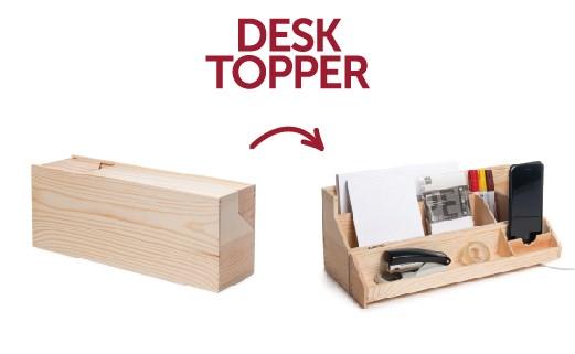 Rackpack Desktopper: een wijnkist én een bureau organiser in één